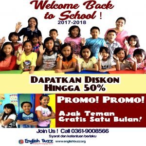 Welcome Back to School Promo 2017-2018