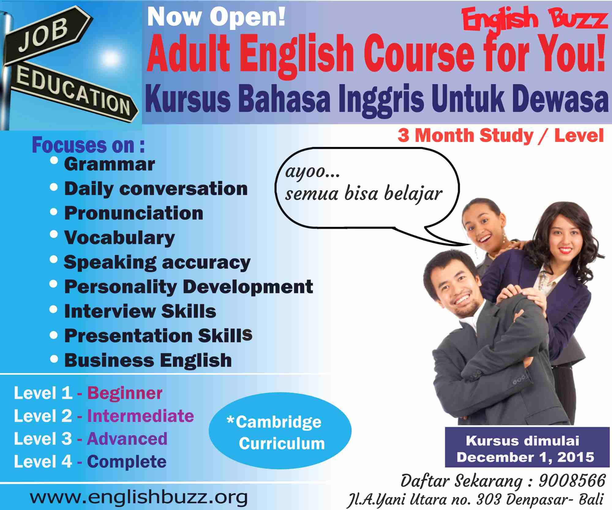 Latest program adult english course